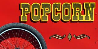 De uitstekende Kar van de Popcorn Royalty-vrije Stock Foto's