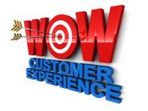 De uitstekende klantendienst vector illustratie