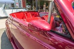 De uitstekende klassieke auto detailleert binnenlandse convertibel Stock Fotografie