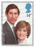 De uitstekende Koninklijke Zegel 1981 van het Huwelijk Royalty-vrije Stock Afbeeldingen
