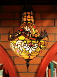 De uitstekende lamp van de muur lichte, retro muur, de oude lichte inrichting van de manier decoratieve muur stock foto
