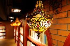 De uitstekende lamp van de muur lichte, retro muur, de oude lichte inrichting van de manier decoratieve muur royalty-vrije stock afbeelding
