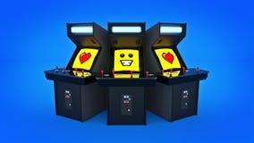 De uitstekende liefde van het de machineconcept van het arcadespel Stock Afbeelding