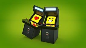 De uitstekende liefde van het de machineconcept van het arcadespel Stock Afbeeldingen