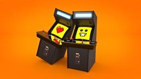 De uitstekende liefde van het de machineconcept van het arcadespel Royalty-vrije Stock Afbeeldingen