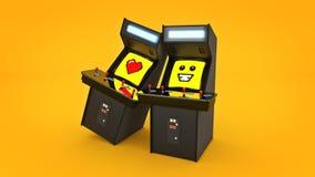 De uitstekende liefde van het de machineconcept van het arcadespel Royalty-vrije Stock Afbeelding