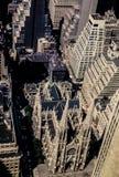 De uitstekende mening van 1972 van St Patricks Kathedraal, Manhattan, NYC Royalty-vrije Stock Afbeeldingen