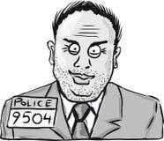 De uitstekende misdadige klem-kunst van de schetsillustratie Stock Foto