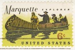 De uitstekende Ontdekkingsreiziger van Marquette van de Zegel van 1968 Stock Afbeeldingen