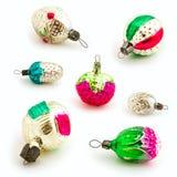 De uitstekende ornamenten van Kerstmis Royalty-vrije Stock Afbeeldingen
