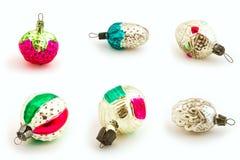De uitstekende ornamenten van Kerstmis Royalty-vrije Stock Foto's
