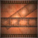 De uitstekende oude achtergrond van de filmkunst Stock Foto's