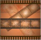 De uitstekende oude achtergrond van de filmkunst Stock Afbeeldingen