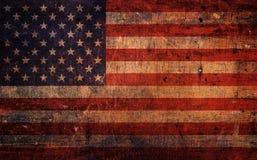 De uitstekende Oude Amerikaanse Vlag van Grunge stock afbeeldingen