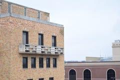 De uitstekende Ouderwetse Zolder van het Cementbalkon Royalty-vrije Stock Foto's