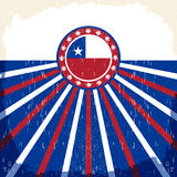 De uitstekende patriottische affiche van Chili - kaart vectorontwerp Stock Afbeeldingen