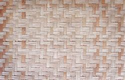 De uitstekende patronen van Thaise traditionele handcraft weven, gemaakt van droge installatiesriet of cyperus, imbricatus, natuu stock afbeelding