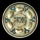 De uitstekende Plaat van Seder van de Pascha Royalty-vrije Stock Fotografie
