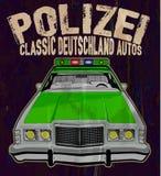 De uitstekende politiewagen Royalty-vrije Stock Afbeeldingen