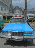 De uitstekende politiewagen van NYPD Plymouth op vertoning Stock Afbeeldingen