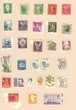 De uitstekende Postzegels van de V.S. royalty-vrije stock afbeeldingen