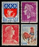 De uitstekende Postzegels van Frankrijk Stock Fotografie