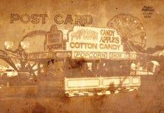 De uitstekende Prentbriefkaar van de Stijl Stock Fotografie