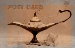 De uitstekende Prentbriefkaar van de Stijl Stock Afbeeldingen