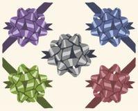 De uitstekende reeks van de giftboog vector illustratie