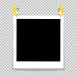 De uitstekende reeks van fotokader is gestippeld aan de muurdocument houders Van de schaduw van de pro-professionele achtergrond  vector illustratie