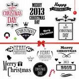 De uitstekende reeks van Kerstmis Stock Fotografie