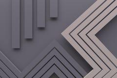 De uitstekende retro grijze van het kleurenpatroon 3d lijn en de punt als achtergrond trekken uit Royalty-vrije Stock Afbeelding