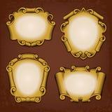 De uitstekende Rollen van de Cartouches van Frames Royalty-vrije Stock Afbeelding