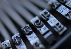 De uitstekende Sleutels van de Schrijfmachine Stock Afbeelding