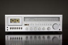 De uitstekende StereoOntvanger van het Cassettedeck Royalty-vrije Stock Afbeelding