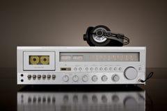 De uitstekende StereoOntvanger van het Cassettedeck Stock Foto's