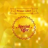 De uitstekende Sticker van de Verkoopspeciale aanbieding Royalty-vrije Stock Foto