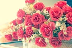 De uitstekende stijl, nam bloem toe Stock Afbeelding