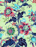 De uitstekende stijl van tapijtwerk bloeit de achtergrond van het stoffenpatroon Stock Afbeeldingen