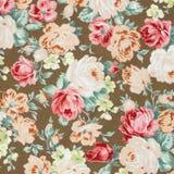 De uitstekende stijl van tapijtwerk bloeit de achtergrond van het stoffenpatroon stock fotografie