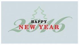 De uitstekende tekst van het Kerstmisteken Vector retro Kerstkaart Stock Foto