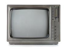 De uitstekende televisie isoleert op wit royalty-vrije stock foto's