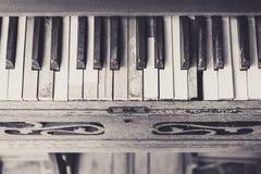 De uitstekende toon van het pianotoetsenbord Stock Foto