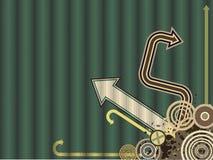 De uitstekende Trendy VectorAchtergrond van de Pijl royalty-vrije illustratie