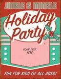 De uitstekende Uitnodiging Retro Tin Sign Art Flyer van de Kerstmispartij royalty-vrije illustratie