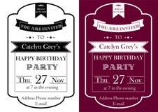 De uitstekende uitnodiging van de Verjaardagspartij Stock Foto's
