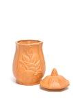De uitstekende vaas van de kleibloem Royalty-vrije Stock Afbeeldingen