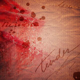 De uitstekende valentijnskaartkaart met absract nam toe Royalty-vrije Stock Afbeeldingen