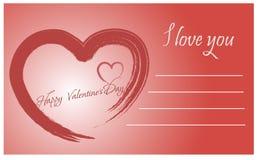 De uitstekende van letters voorziende achtergrond van de valentijnskaartendag Royalty-vrije Stock Afbeelding