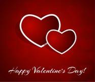 De uitstekende van letters voorziende achtergrond van de valentijnskaartendag Royalty-vrije Stock Fotografie